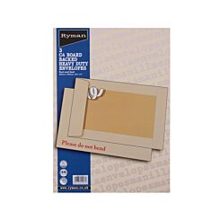 Ryman Board Backed Envelopes C4  Peel and Seal Pack of 3