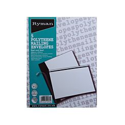 Ryman  Post Safe Extra Strong Envelopes 506x353mm Polythene Pack of 5