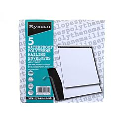 Ryman Polythene Mailing Envelopes 170mmx250mm Pack of 5