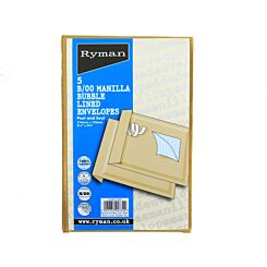 Ryman B/00 Bubble Bags 120x210mm Peel and Seal Pack of 5