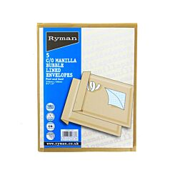 Ryman C/0 Bubble Bags 150x210mm Self Seal Pack of 5