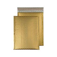 Blake Creative Colour Bubble Envelope C4 Peel and Seal Pack of 10 Matt Metallic Gold Dust