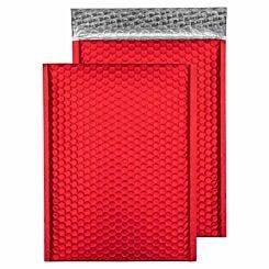 Blake Creative Colour Bubble Envelope C4 Peel and Seal Pack of 10 Matt Metallic Red