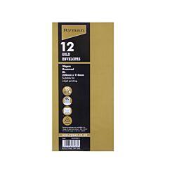 Ryman Envelopes DL Gummed Pack of 12 Gold