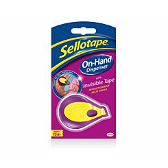 Sellotape Invisible Tape Dispenser 18mmx5m
