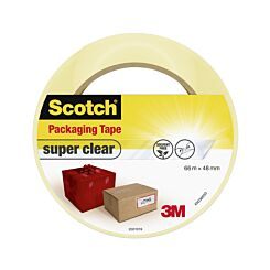 Scotch Packaging Tape Clear Pack of 6 50mm x 66m
