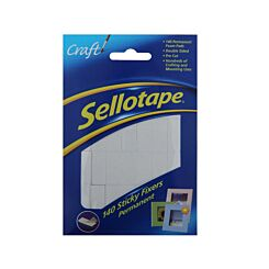 Sellotape Sticky Fixers 12mmx25mm 140 Pack