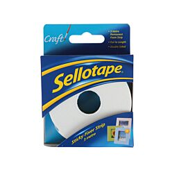 Sellotape Sticky Fixers 25mm x 3m Strip