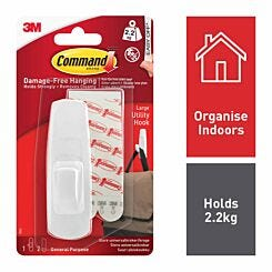 Command Large Utility Hook 17003 White