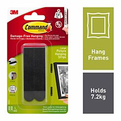 Command Picture Hanging Strips Lrg Pack of 4 17206 Black