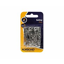 Korbond Safety Pins Pack of 50