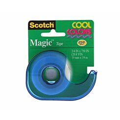 3M Scotch Magic Tape 19mm x 19m with Coloured Dispenser