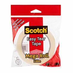 Scotch Easy Tear Tape Mega Roll 25mm x 100m