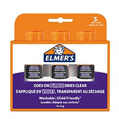 Elmers 6g Glue Stick Purple Pack of 3