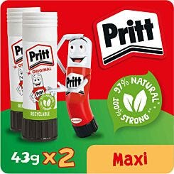 Pritt Stick 43g x 2 Pack