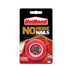 Unibond No More Nails Double Sided Mounting Tape 120kg 19mm x 1.5m