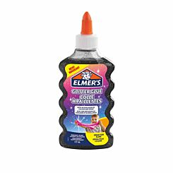 Elmers Glitter Glue 177ml Black
