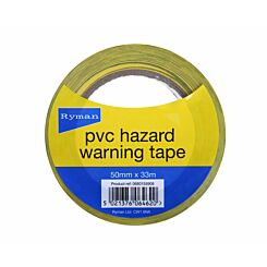 Ryman Hazard Warning Tape Pack of 3 50mmx33m