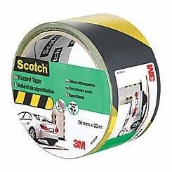 Scotch Hazard Marking Tape 50mm x 33m