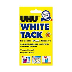 UHU White Tack Handy Re-usable Adhesive Pack of 12