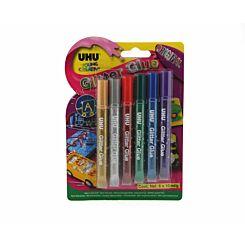 UHU Glitter Glue 10ml Pack of 6