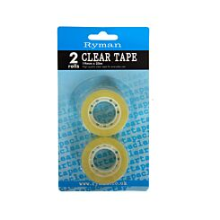 Ryman Clear Tape 19mm x 20m Pack of 2