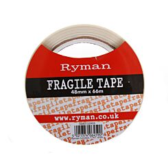 Ryman Fragile Warning Tape 50mm x 66m