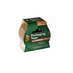Duck Packaging Tape 50mmx25mm Brown