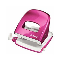 Leitz WOW Metal Hole Punch Pink
