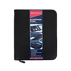Ryman Conference Folder A4 With Zip Fastener and Ringbinder