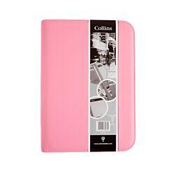 Collins Ringbinder Folio With Zip Pink