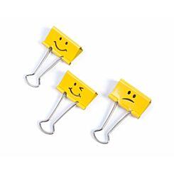 Rapesco Emoji Binder Clips Yellow