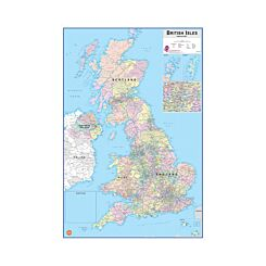 Wall Pops Dry Erase Map British Isles