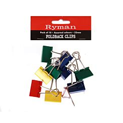 Ryman Foldback Clips 32mm Pack of 10
