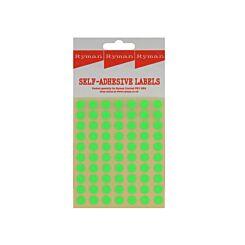 Ryman Self Adhesive Labels 8mm Diameter 70 per Sheet Pack of 700 Green
