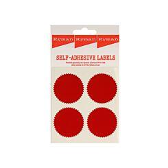 Ryman Self Adhesive Legal Seal 4 per Sheet Pack of 44