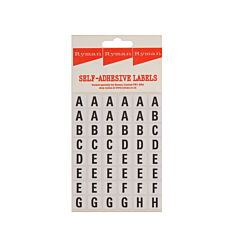 Ryman Self Adhesive A-Z Letters 48 per Sheet Pack of 240