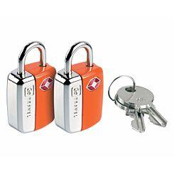 Go Travel Mini Travel Sentry Lock Pack of 2 Orange