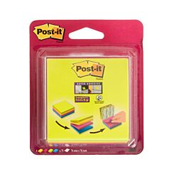 Post-it Super Sticky Notes Easy Select Cube Assorted Pack of 4