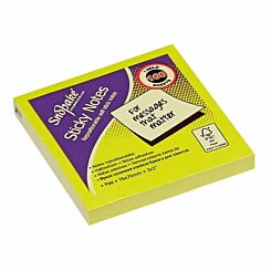 Snopake Sticky Notes 76x76mm 100 Sheets Neon Assorted