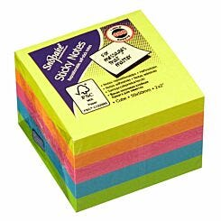 Snopake Sticky Notes 50x50mm 400 Sheets Neon Assorted