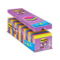 Post-it Super Sticky Notes Colourful 76x76mm Pack of 24