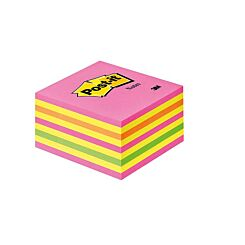Post-It Neon Pink Cube 76x76mm 450 Sheets