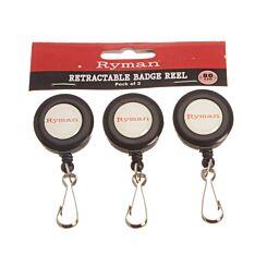 Ryman Retractable Badge Reel Pack of 3