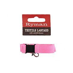 Ryman Textile Lanyard Pink