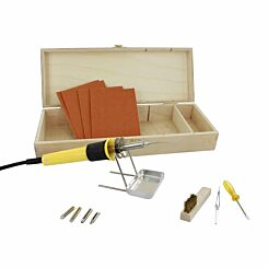 Pyrography Craft Set In Wooden Case