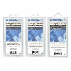 Yankee Home Inspirations Wax Melts Soft Cotton Pack of 3