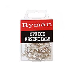 Ryman Map Pins Pack of 1000 White