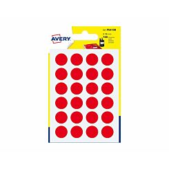 Avery Self Adhesive Labels Dots 15mm Pack of 168 Red