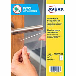 Avery Anti-Microbial Film Labels A4 Pack of 40